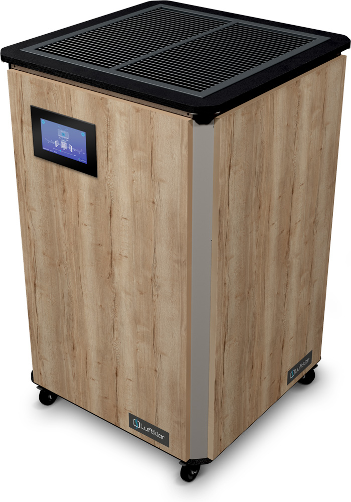 Luftklar Luftreinger HEPA 1800 HT Designvariante Elegant oak